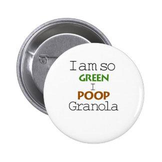 Soy tan verde pin redondo de 2 pulgadas