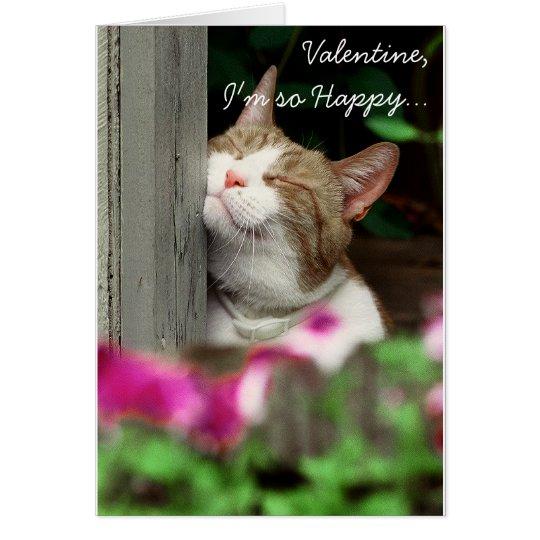 Soy tarjeta del día de San Valentín tan feliz