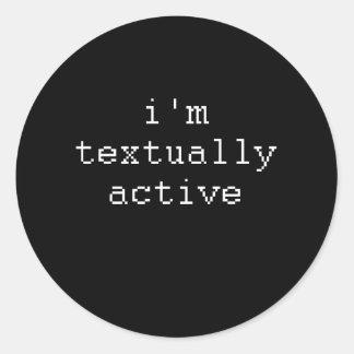 Soy TEXTUAL ACTIVE Pegatina