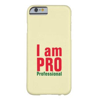 Soy tipografía profesional funda para iPhone 6 barely there