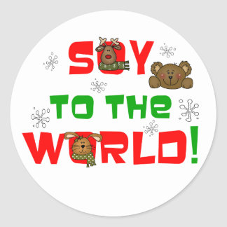 Soy to the World Classic Round Sticker