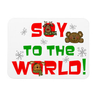 Soy to the World Rectangular Photo Magnet
