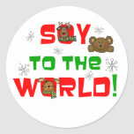 Soy to the World Round Stickers
