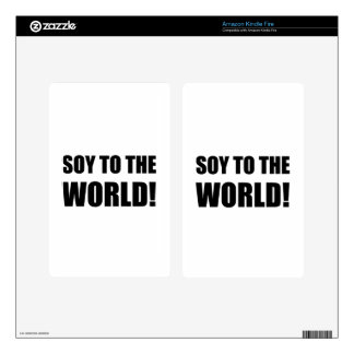Soy To The World Skins For Kindle Fire