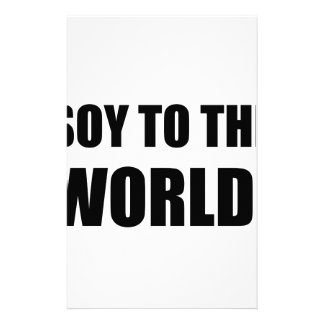 Soy To The World Stationery