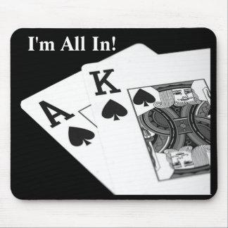 ¡Soy todo adentro!  Tejas los sostiene póker Mouse Tapetes De Ratón