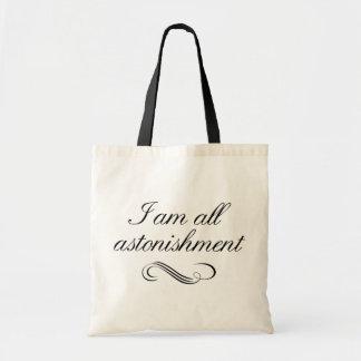 Soy todo el asombro bolsas lienzo