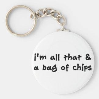 Soy todo el el y un bolso del artículo de los micr llavero redondo tipo pin