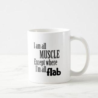 Soy todo el músculo tazas de café