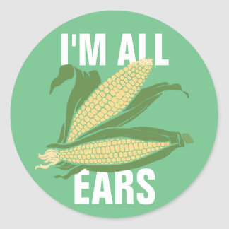 Soy todos los oídos pegatina redonda