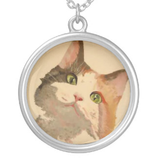 Soy todos los oídos: Retrato del gato de calicó Colgante Redondo