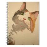 Soy todos los oídos: Retrato del gato de calicó Cuaderno