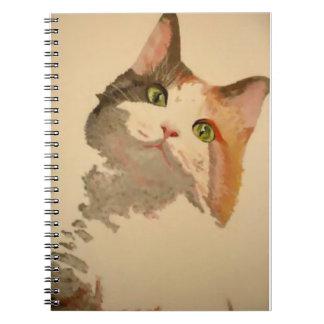 Soy todos los oídos: Retrato del gato de calicó Libro De Apuntes Con Espiral