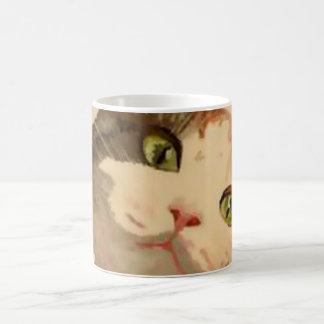 Soy todos los oídos: Retrato del gato de calicó Taza Clásica