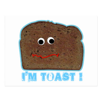 ¡Soy tostada! postal chistosa de la parodia