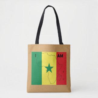 """Soy tote de África"" Senegal Bolsa De Tela"