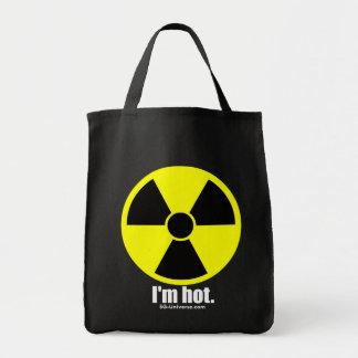 Soy tote oscuro caliente bolsa tela para la compra