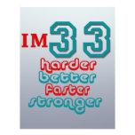Soy treinta y tres. ¡Mejore más difícilmente más r Tarjetones
