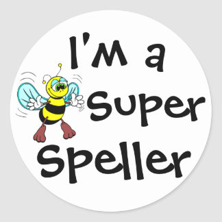 Soy un abecedario estupendo pegatina redonda