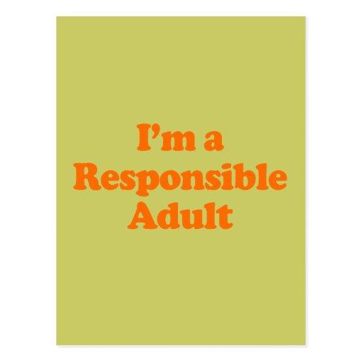 Soy UN ADULTO RESPONSABLE Tarjeta Postal