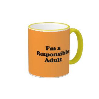 Soy un adulto responsable taza