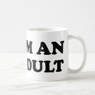 Soy un adulto taza de café