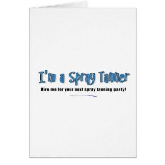 Soy un aerosol Tanner Tarjeta De Felicitación