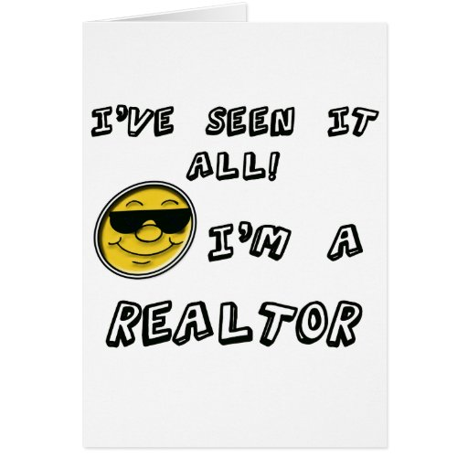 Soy un agente inmobiliario tarjeta de felicitación