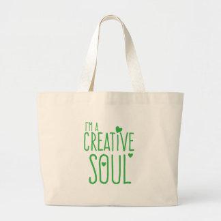 Soy un alma creativa bolsa tela grande