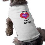 Soy un amante no una camiseta del mascota del comb camisa de mascota