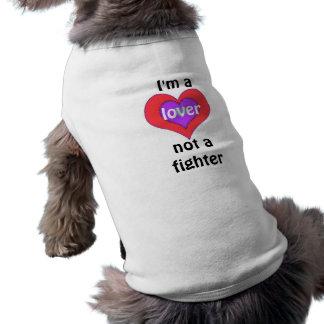 Soy un amante no una camiseta del mascota del playera sin mangas para perro