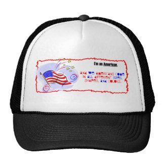 Soy un americano gorras de camionero