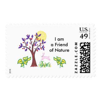 Soy un amigo de la pintura de la naturaleza y cita sello