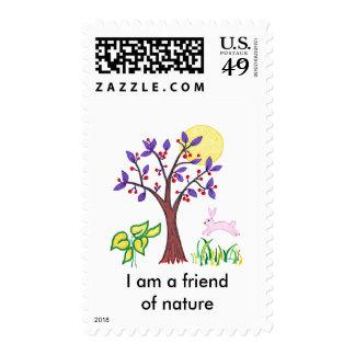 Soy un amigo de la pintura de la naturaleza y cita sellos