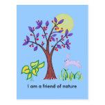 Soy un amigo de la pintura de la naturaleza y cita tarjetas postales