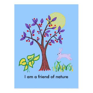 Soy un amigo de la pintura de la naturaleza y cita tarjeta postal
