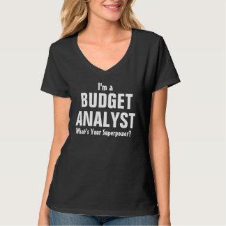 ¿Soy un analista del presupuesto cuál es su Playera
