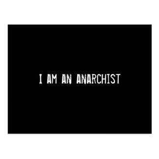 Soy un anarquista tarjeta postal