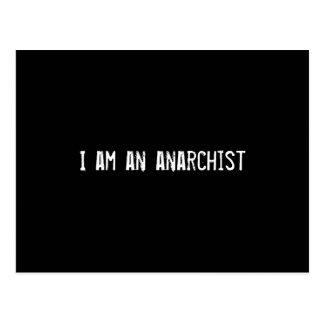 Soy un anarquista tarjetas postales