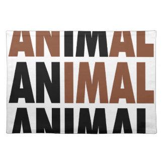 soy un animal mantel individual