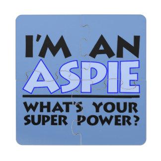 Soy un Aspie. ¿Cuál es su superpoder? Posavasos De Puzzle