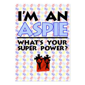 Soy un Aspie. ¿Cuál es su superpoder? Tarjetas De Visita Grandes