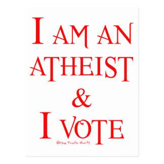 Soy un ateo y voto tarjetas postales