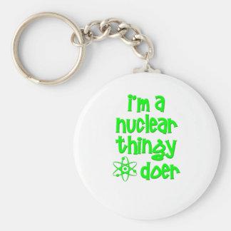 Soy un autor nuclear de Thingy Llavero Redondo Tipo Pin