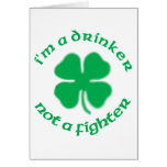 Soy un bebedor no un combatiente tarjeta