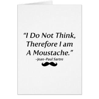 Soy un bigote tarjeta de felicitación