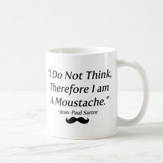 Soy un bigote taza básica blanca