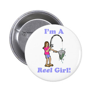 Soy un botón del chica del carrete pins