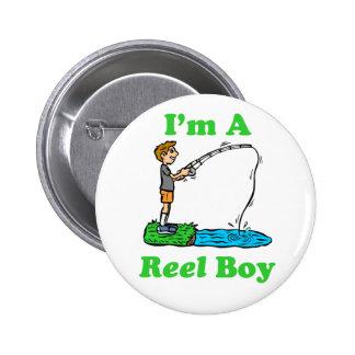 Soy un botón del muchacho del carrete pin redondo de 2 pulgadas