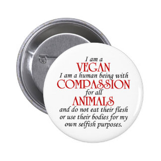 Soy un botón del vegano